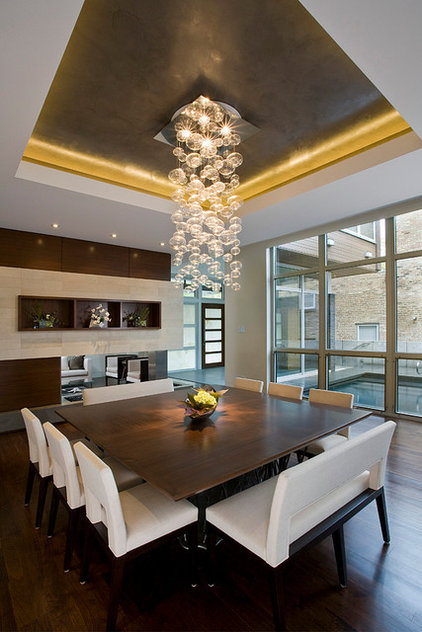 Contemporary Dining Room by Nicholas Design Collaborative