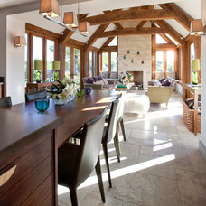 Traditional Dining Room by Charles Bateson Interior Design