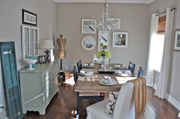 Eclectic Dining Room by Ally Whalen Design