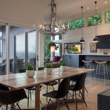 Contemporary Dining Room by Petrina Construction INC
