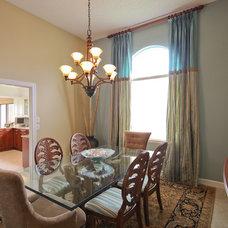 Tropical Dining Room by Francesca Morgan Interiors