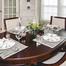 Traditional Dining Room by Pam Tiberia
