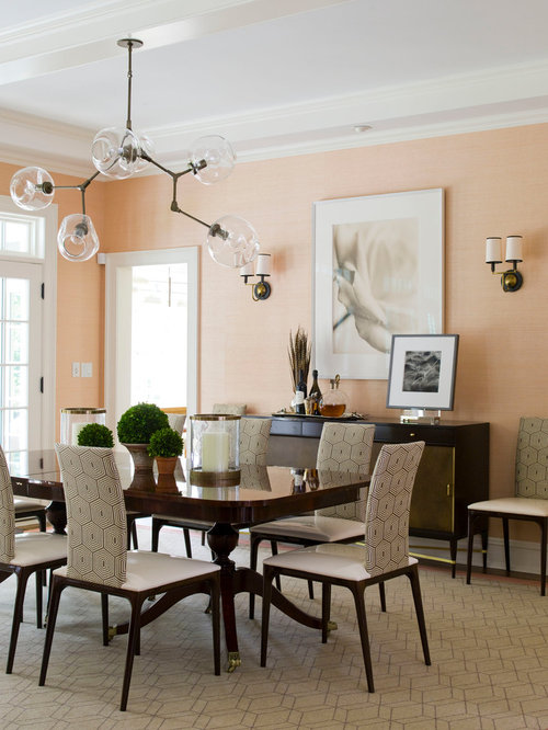 Peach Living Room Home Design Ideas, Pictures, Remodel and ...
