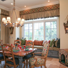 Rustic Dining Room by JMA INTERIOR DECORATION