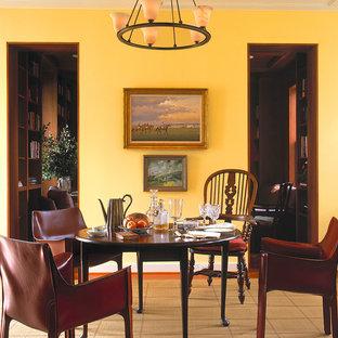 Inspiration för klassiska matplatser, med gula väggar