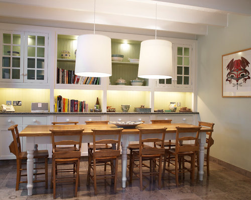 photo of a rural dining room in other with no fireplace - Country Dining Room Design