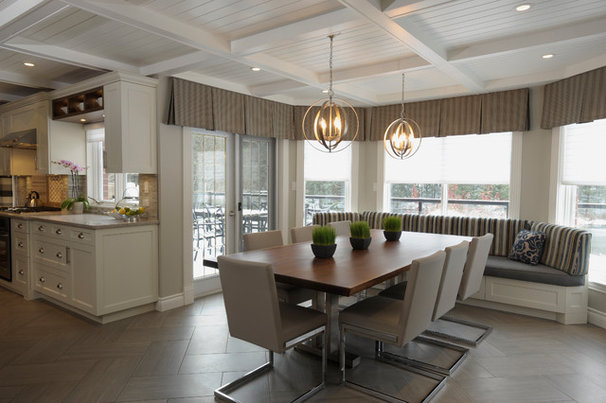Traditional Dining Room by Nancy Lem Design