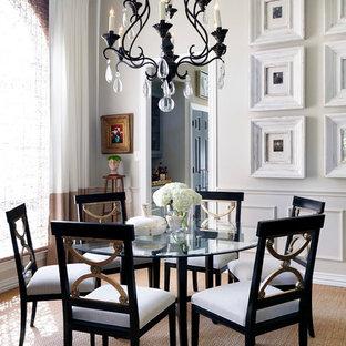 Ispirazione per una sala da pranzo tradizionale di medie dimensioni con pareti beige e nessun camino