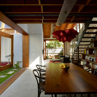 Inspiration for an industrial dining room remodel in Sydney