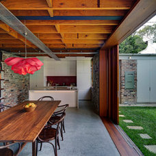 Industrial Dining Room by carterwilliamson architects