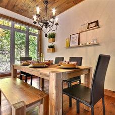 Rustic Dining Room by Melyssa Robert Designer