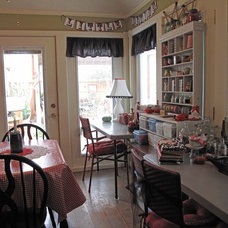 Eclectic Dining Room by Cozy Little House