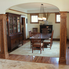 Traditional Dining Room by Progress Street Builders