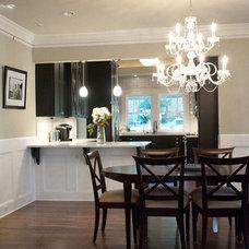 Craftsman Dining Room by Heirloom Design Build