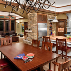 Craftsman Dining Room by CG&S Design-Build