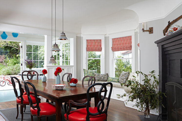Transitional Dining Room by Lewin Wertheimer