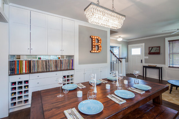 Transitional Dining Room by CG&S Design-Build