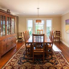 Craftsman Dining Room by Kenorah Design + Build Ltd.