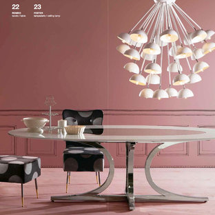 Example of a trendy dining room design in London