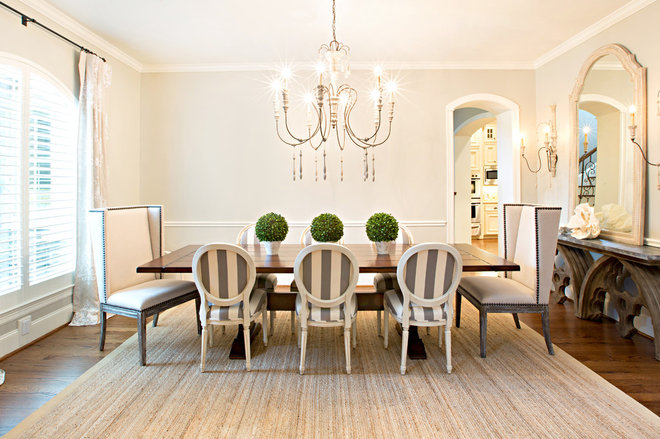 Traditional Dining Room by Amanda Carol Interiors
