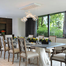 Contemporary Dining Room by Kelley Flynn Interior Design