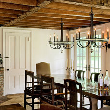 Farmhouse Dining Room by Crisp Architects