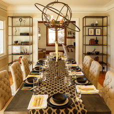 Transitional Dining Room by Laura Martin Bovard