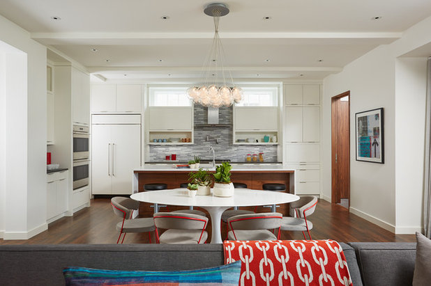 Contemporary Dining Room by Charlie & Co. Design, Ltd