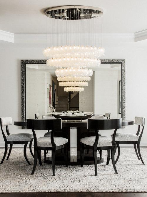 crystal shell custom blown glass dining room chandelier