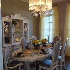 Eclectic Dining Room Crystal Whitley