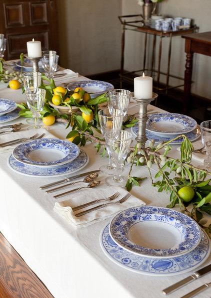Mediterranean Dining Room by Laura Martin Bovard