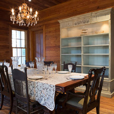 Rustic Dining Room by eric marcus studio