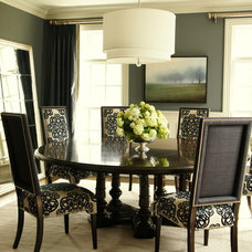 traditional dining room by Identity Design LLC.