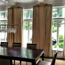 Contemporary Dining Room by Curtain Works of Greenwich