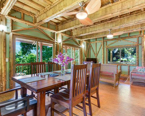 Tropical dining room design ideas remodels photos with for Tropical dining room ideas