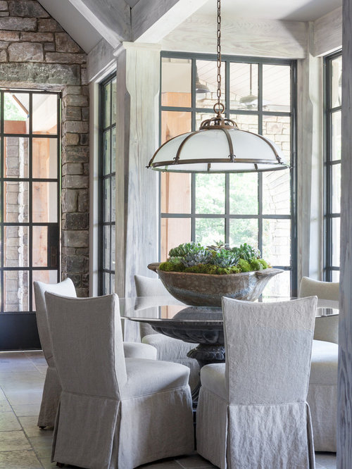 Small Great Room Ideas Part - 23: Example Of A Small Transitional Gray Floor And Limestone Floor Great Room  Design In Nashville With