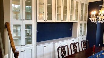 Custom Built-ins with Glass Doors