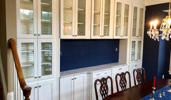 Custom Built-ins with Glass Doors