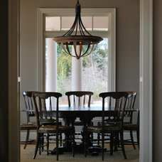 Traditional Dining Room by Greg Day Lighting