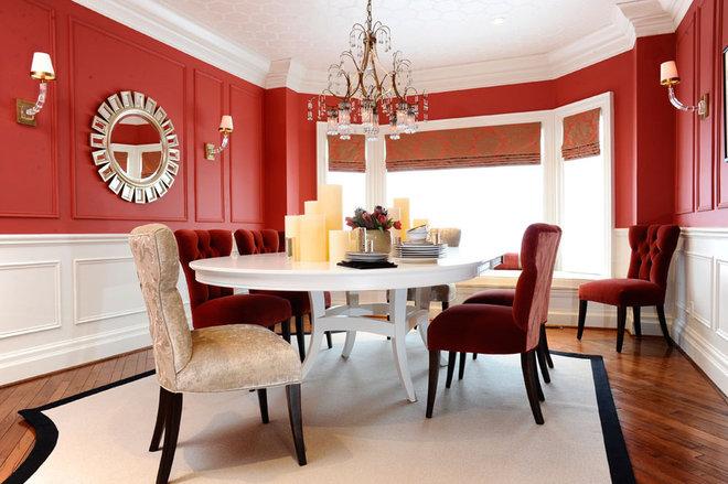 Contemporary Dining Room by Q. Design - Drapery & Design Resource Centre