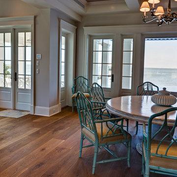 Custom Engineered White Oak Floor with Oil Finish