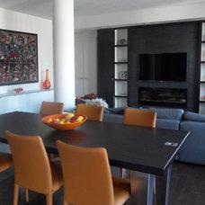 Contemporary Dining Room by David Nosella Interior Design