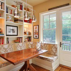Eclectic Dining Room by R.A.Hoffman Architects, Inc.