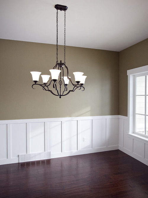 Board and batten wainscotting houzz for Wainscoting designs dining room