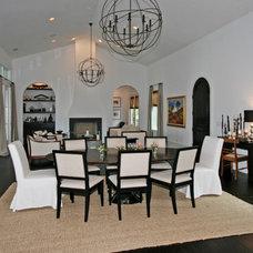 Transitional Dining Room by Corner Lot Custom Homes