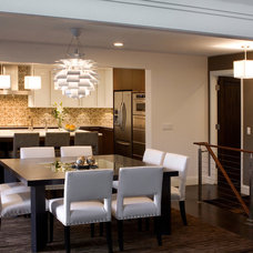 Contemporary Dining Room by Usztan, LLC