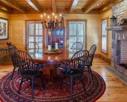 Inspiration for a large rustic dining room remodel with medium tone wood  floors  a standardRustic Dining Room Ideas   Design Photos   Houzz. Rustic Dining Rooms Ideas. Home Design Ideas