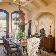mediterranean dining room by Jenkins Custom Homes
