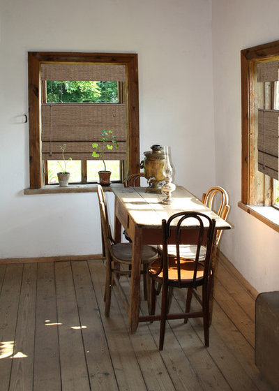 Modern Dining Room by Windows Dressed Up