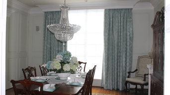 Custom work by Kim's Curtains